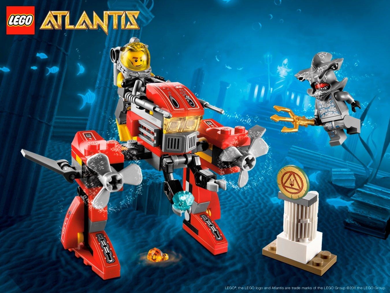 lego atlantis 7977 seabed strider amazon co uk toys u0026 games