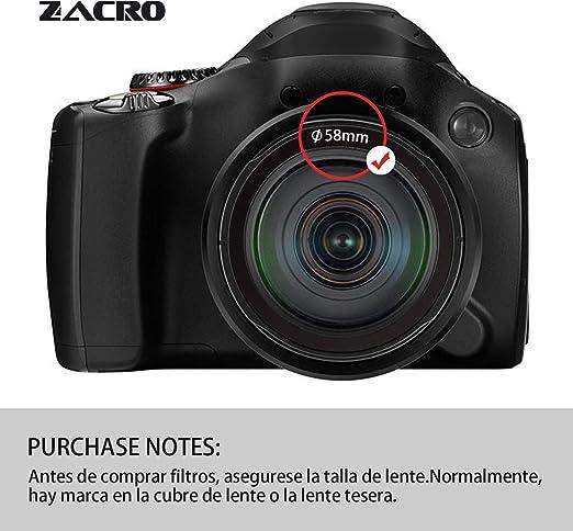 Zacro 58mm 6 en 1 Kit Filtros de Fotografía (ND2, ND4, ND8, ND16 ...