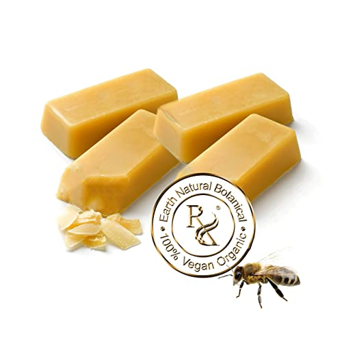 Earth Natural Botanical Beeswax 4 1 oz. bars or pastilles 100 Pure Organic First Cappings Beeswax
