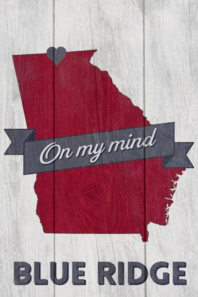 Blue Ridge、ジョージア – On my Mind 16 x 24 Giclee Print LANT-66378-16x24 B017ZFLSTY 16 x 24 Giclee Print16 x 24 Giclee Print