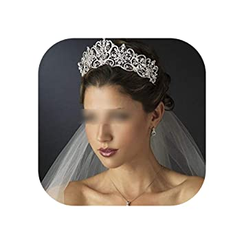 LuxuryHandmade Rhinestone Leaves Bridals Tiaras Wedding Hair Accessories Crown