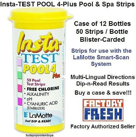 Hot Tub Pool Testing Strips La Motte Insta-Test 3 Instant Results 50 Dip Strips