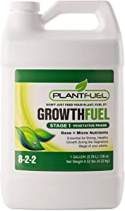 Plant Fuel Nutrients | GROWTH FUEL | Ultra-Premium Liquid Fertilizer for Soil, Hydroponic, and Other Grow Mediums. Formulated specifically for the Vegetative Growth Stage of your Plant. (Gallon Size)