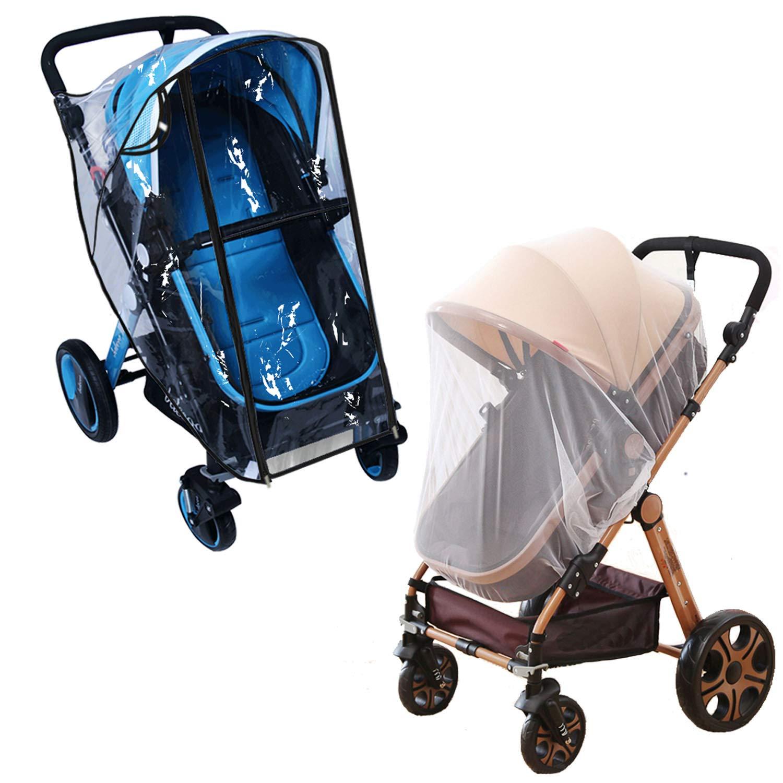 Quality Universal Pram Pushchair Baby Stroller Rain Cover Mosquito Wind Resist