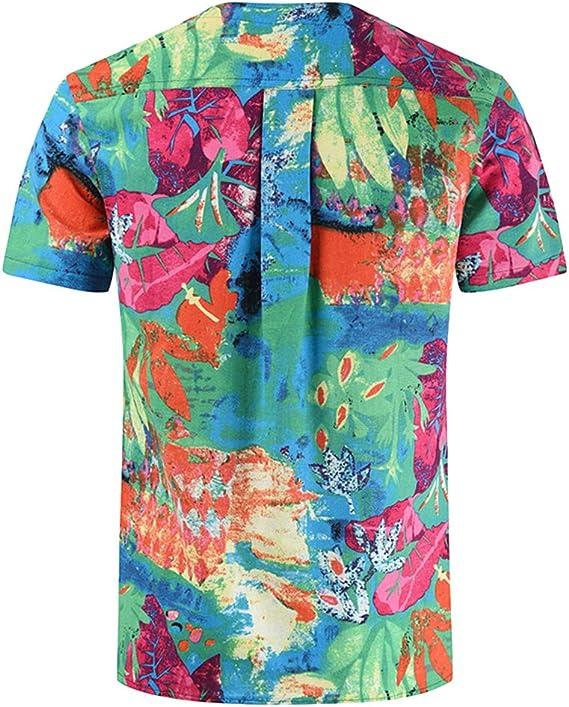 Big /& Tall Tee Casual Short Sleeve Print Tops lexiart Mens Fashion Cotton Linen T-Shirts
