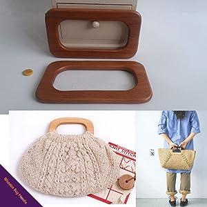 Percha de madera para bolsas de 16,5 x 9,5 cm, material ...