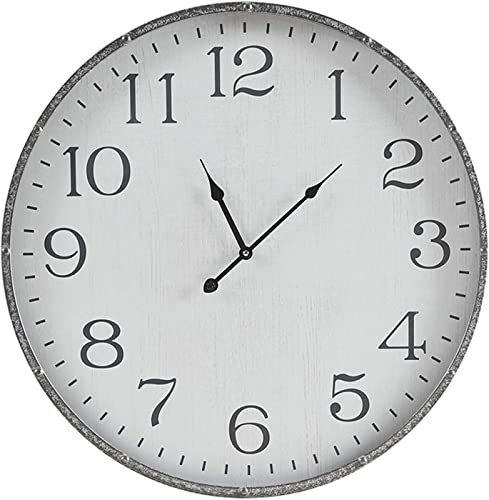 MARTHA STEWART Galvanized Iron Metal Wall Clock 24 Inch