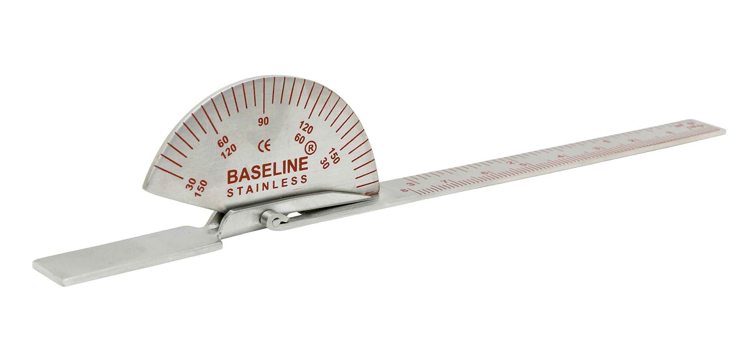 """Baseline 12-1010 Stainless Steel Finger Goniometer, 6"""" Length"""