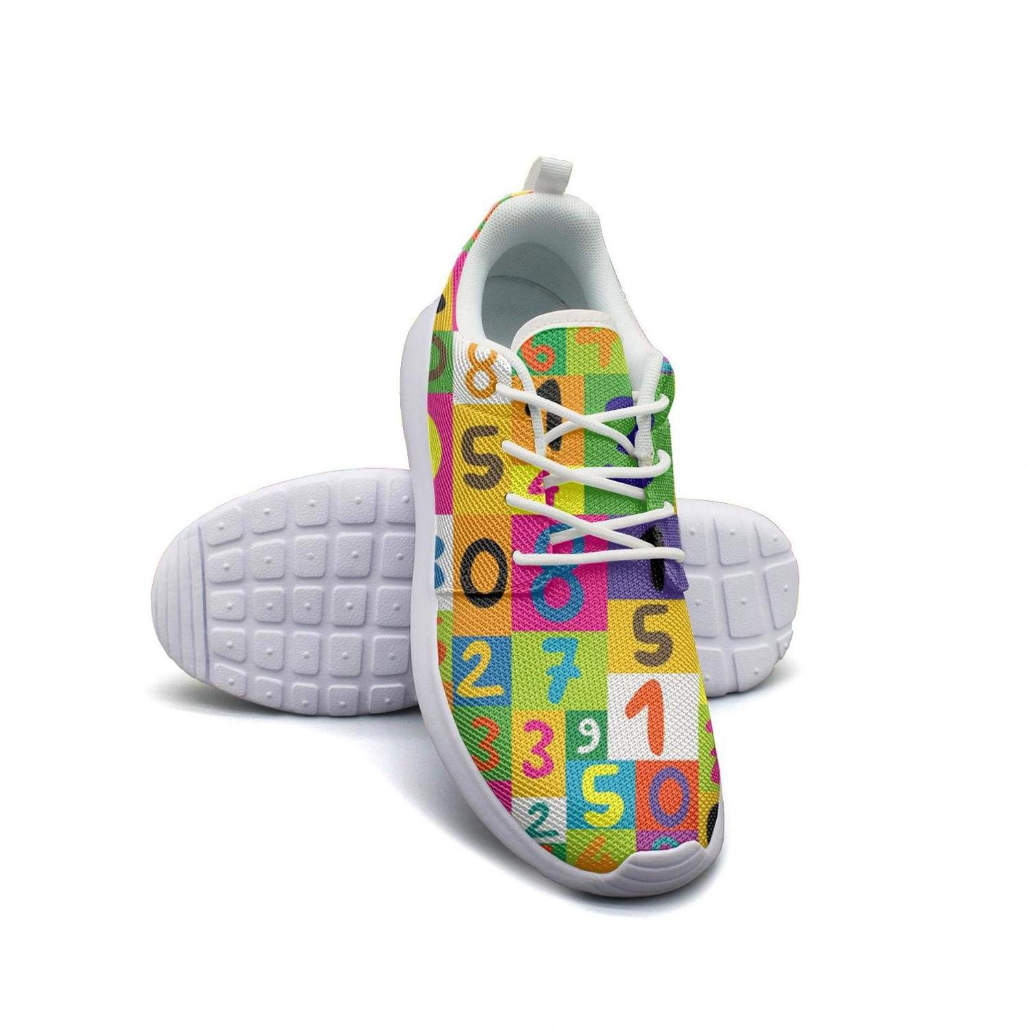 Colorful Math Numbers Seamless Men Canvas Casual Shoes Low Help Fitness Shoe