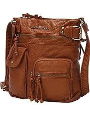 MKF Crossbody Bag for Women: Vegan Leather Satchel-Tote Shoulder Bag, Soft Handbag Purse, Ladies Pocketbook