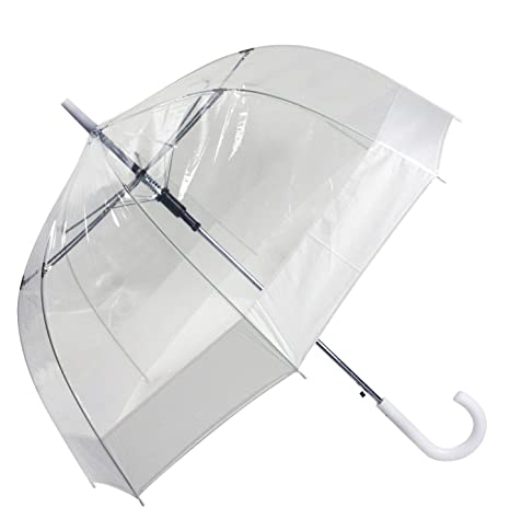 Paraguas transparente cúpula, blanco