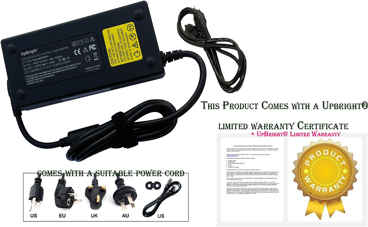 UpBright New 135W Global AC/DC Adapter for 592491-001 HP 8000 Elite Ultra-Slim DC7800 Ultra-Slim PC 437796-001 Power Supply Cord Cable PS Battery Charger Mains PSU
