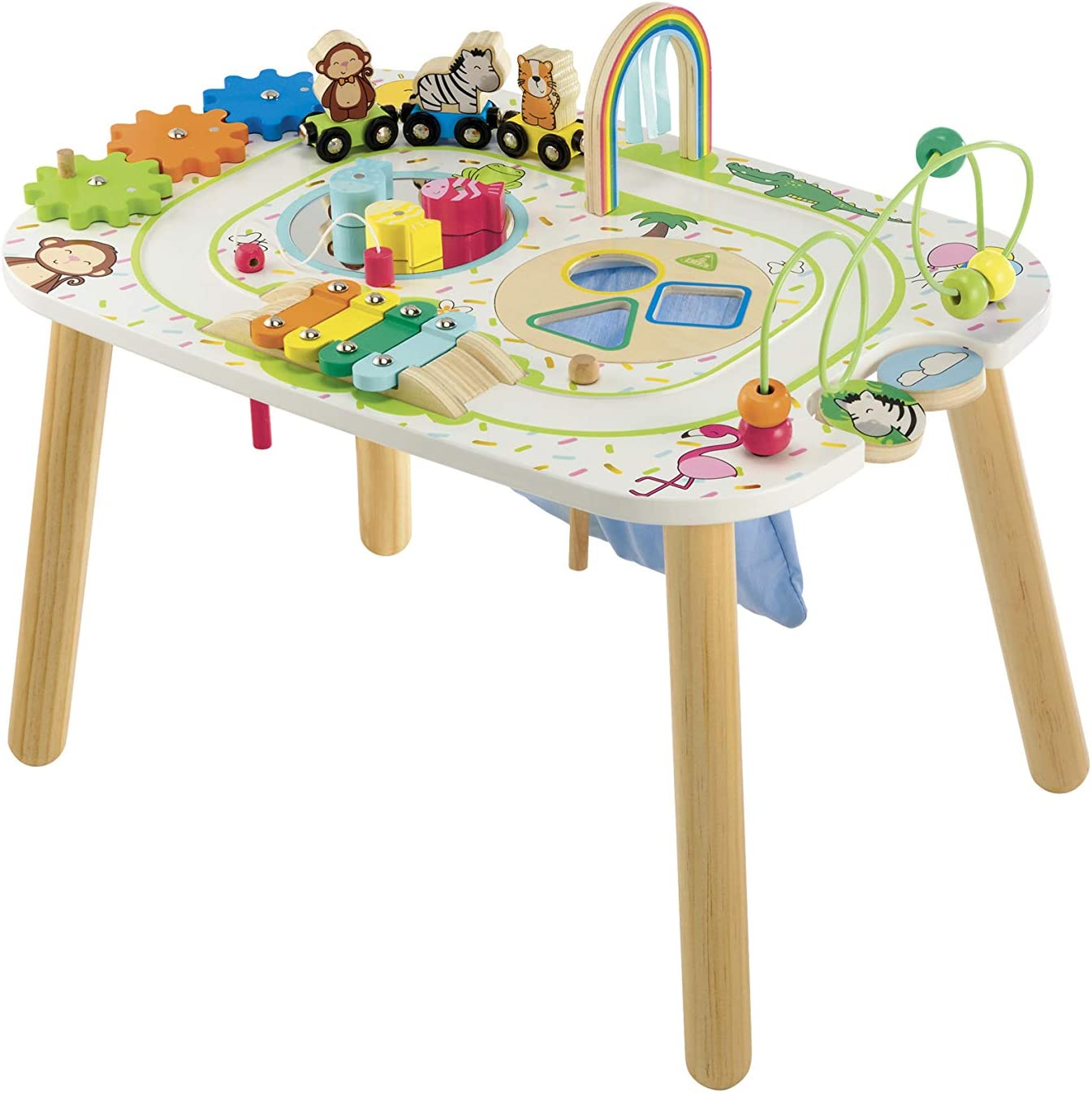 Early Learning Centre Wooden Activity Train Table, Amazon Exclusive