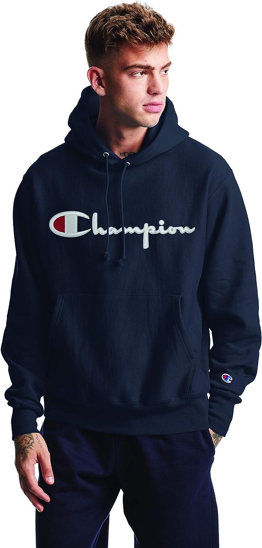 Champion Men's Reverse Weave Pullover Script Logo