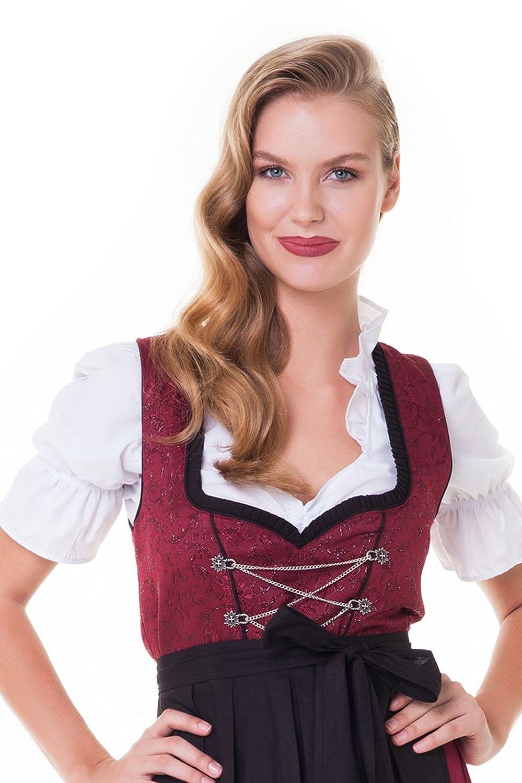 60 aLM501R noir trachtenkleid blouse tablier taille 34 rouge Alpenm/ärchen set costume-long