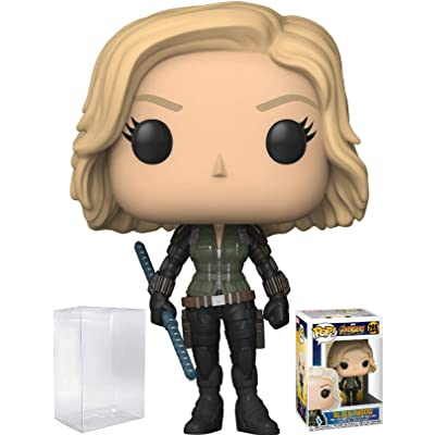 Funko Pop! Marvel: Avengers Infinity War - Black Widow Vinyl Figure (Bundled with Pop Box Protector Case): Toys & Games