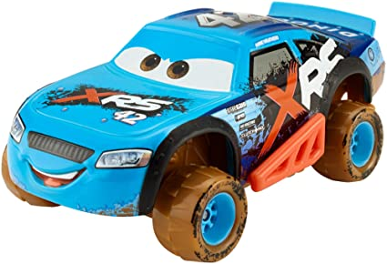 Amazon Com Disney Pixar Cars Xrs Mud Racing Cal Weathers Toys Games