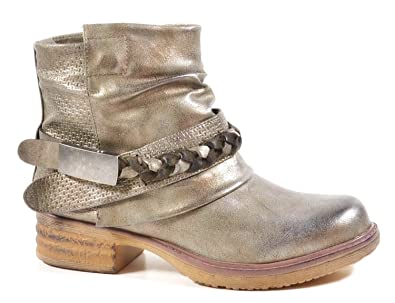 King Of Shoes Damen Stiefeletten Biker Boots Nieten Schnallen Knöchelhohe  Stiefel Leder-Optik QBZ: Amazon.de: Schuhe & Handtaschen