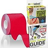 Cinta quinesiológica deportiva sin cortar para la sujeción de los músculos | Rollo adhesivo médico serie Pro marca No…