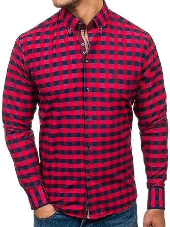 BOLF Langarm Herrenhemd Hemd Figurbetont Freizeit Slim Fit 4701  Amazon.de   Bekleidung 7b32886d44