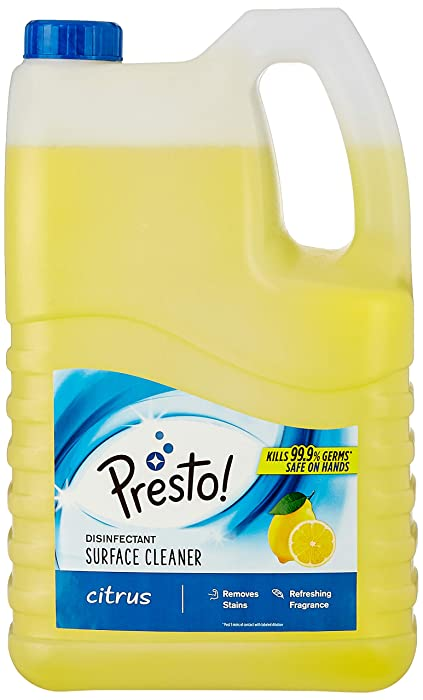 [Pantry] Amazon Brand - Presto! Disinfectant Surface Cleaner - 5 L (Citrus)