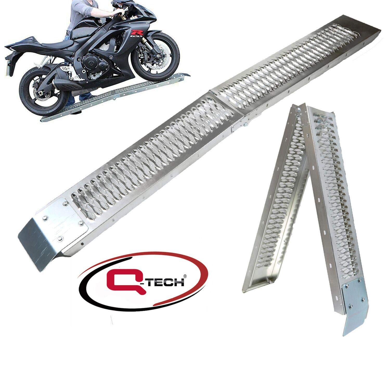 Moto Qtech Robusta rampa di carico Pieghevole in Acciaio per Moto ATV Tosaerba