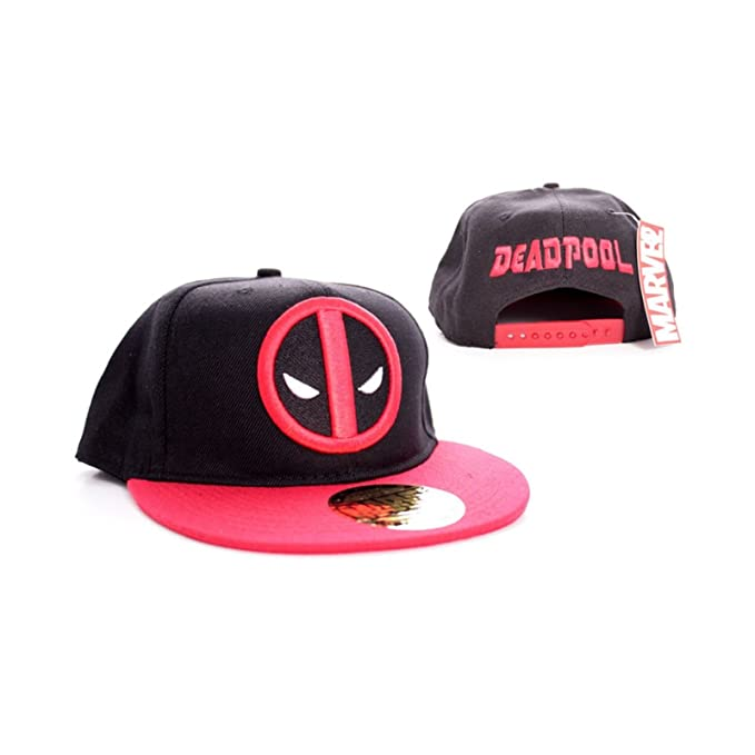 Deadpool face Logo nuevo Oficial Marvel comics negro snapback Gorra de beisbol: Amazon.es: Ropa y accesorios