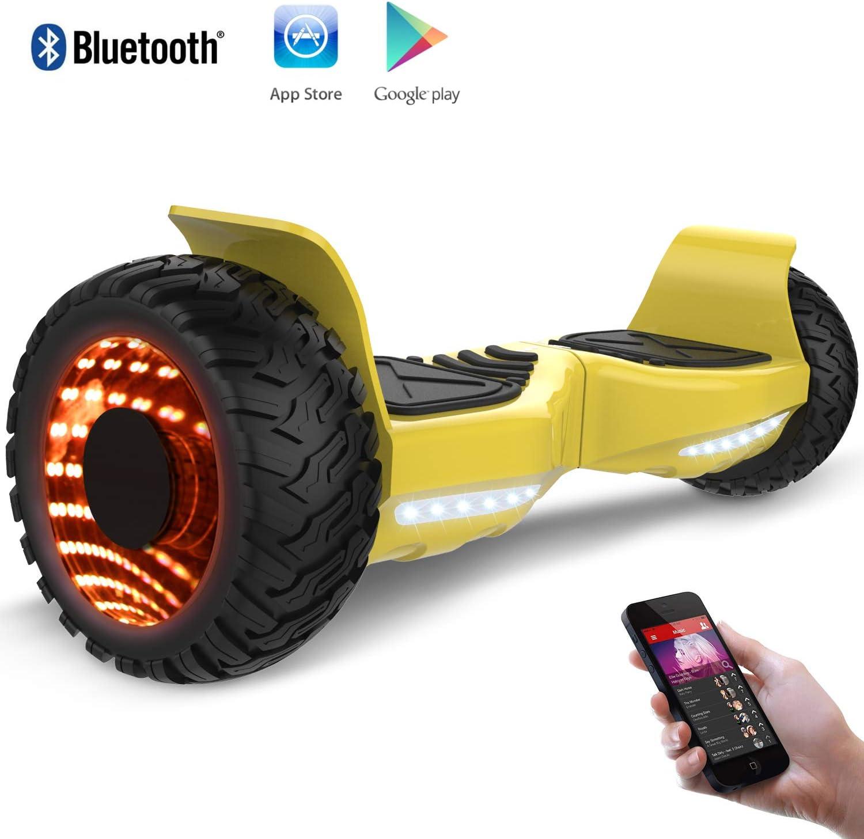 RCB Balance Board Patinete Eléctrico Scooter Monopatín Eléctricocon LED,Bluetooth (Gold): Amazon.es: Deportes y aire libre