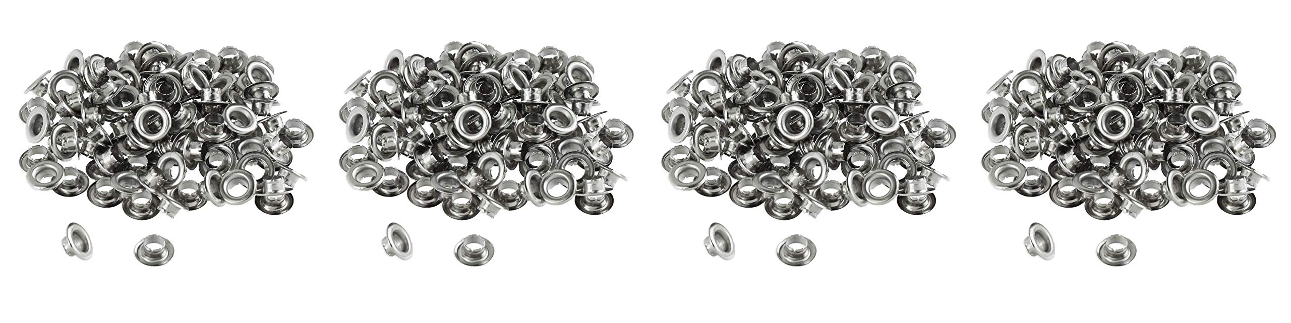 100pc 1/4'' Grommets Eyelets for Clothes, Leather, Canvas - Self-Backing (Fоur Расk) by ProTool