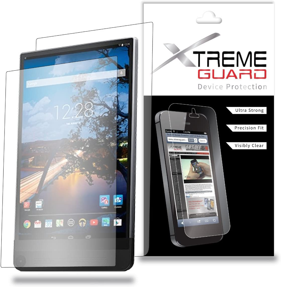 XtremeGuard Full Body Screen Protector for Dell Venue 8 7000 Tablet (Ultra Clear)