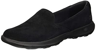 cc589daadad3 Skechers Gowalk Lite Glam Womens Ladies Leather Flats Shoes Black - Black -  UK Size 3