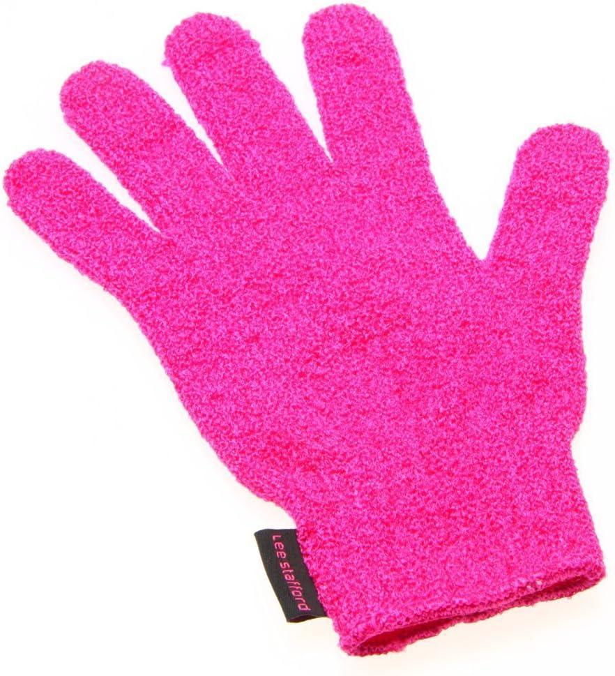 Guante profesional Lee Stafford resistente al calor, protege tus manos mientras peinas con la plancha o las tenazas para cabello; compatible con mano izquierda o derecha, talla única