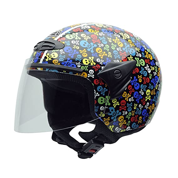 Amazon.es: NZI 050017G410 Helix II Junior Casco de Moto, Pirates, Talla L