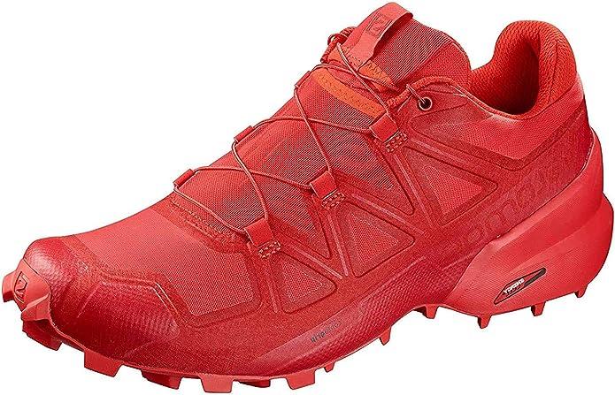 Salomon Speedcross 5 - Zapatillas de running para mujer, high risk red-barbados cherry-, 4 UK: Amazon.es: Zapatos y complementos