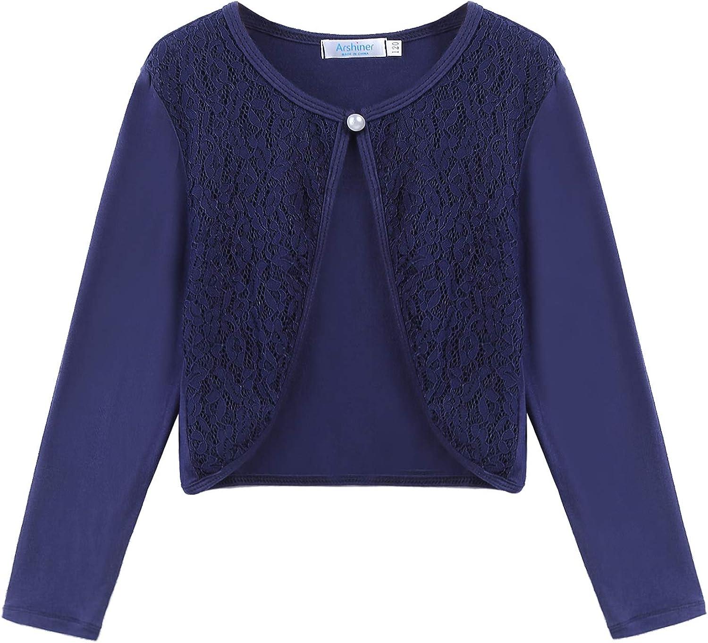 Girls Long Sleeve Bolero Jacket Shrug Short Open Cardigan Sweater Dress Cover up