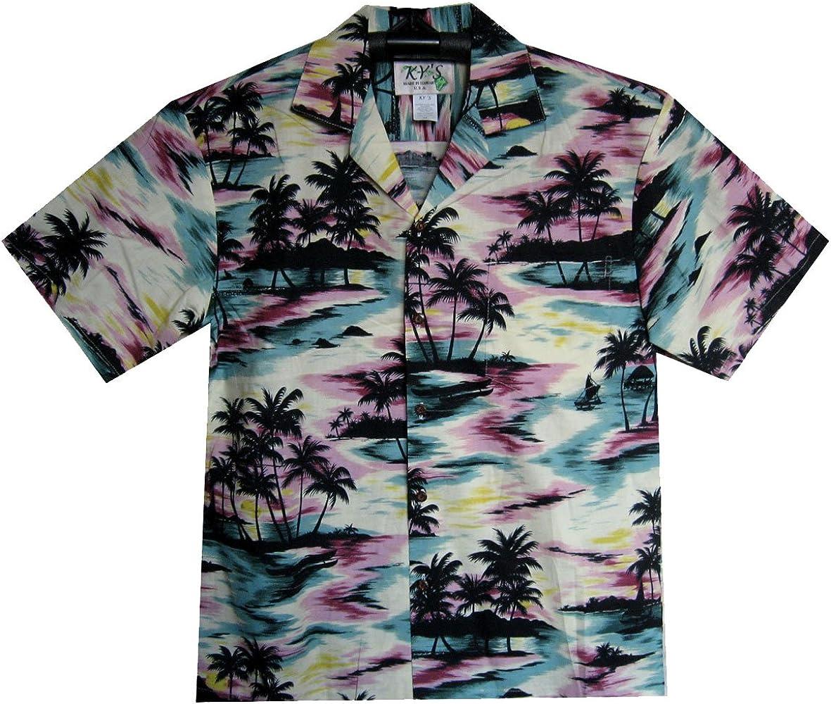KY´s Original Camisa Hawaiana, Camouflage, multicolor S: Amazon.es: Ropa y accesorios