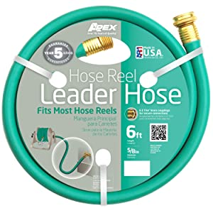 Apex, 887-6,Hose Reel Leader Hose, 5/8-Inch x 6-Feet