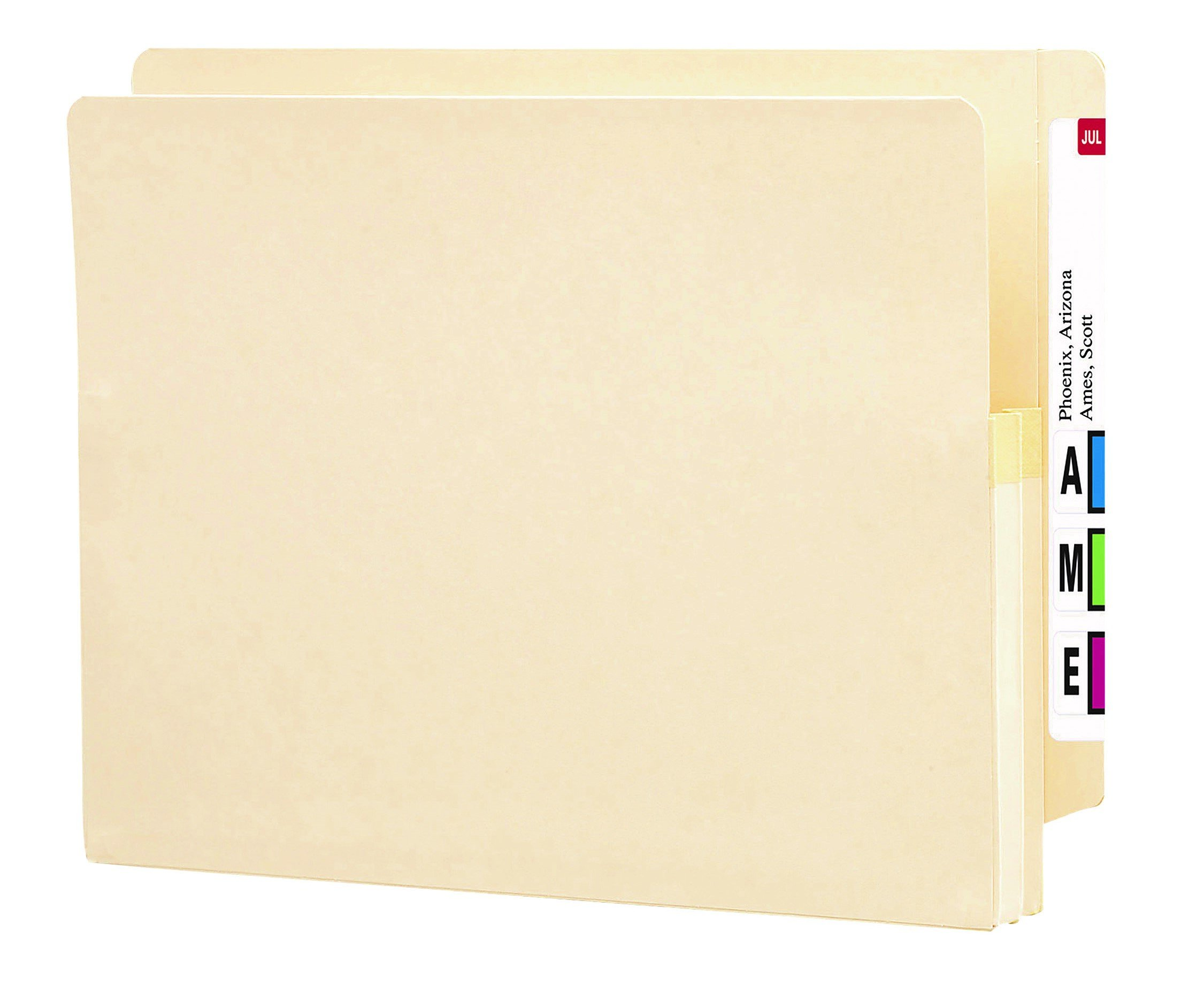 Smead End Tab File Pocket, Reinforced Straight-Cut Tab, 1-3/4'' Expansion, Letter Size, Manila, 25 per Box (75114)