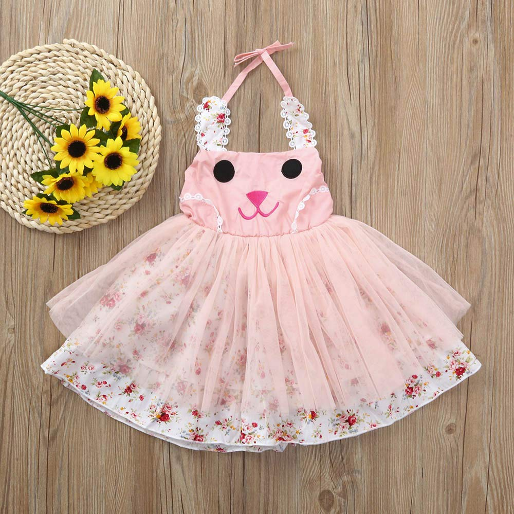 6d7511f5848 Sundress Toddler Baby Girls Sleeveless Dress 2~5 Years Old Light-Pink  Pageant Princess Dress Skirts(Pink