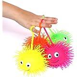 dazzling toys 6 Puffer Balls Light up Puffer Balls on a String   Pack of 6   Party Favor Gooey Puffer Balls