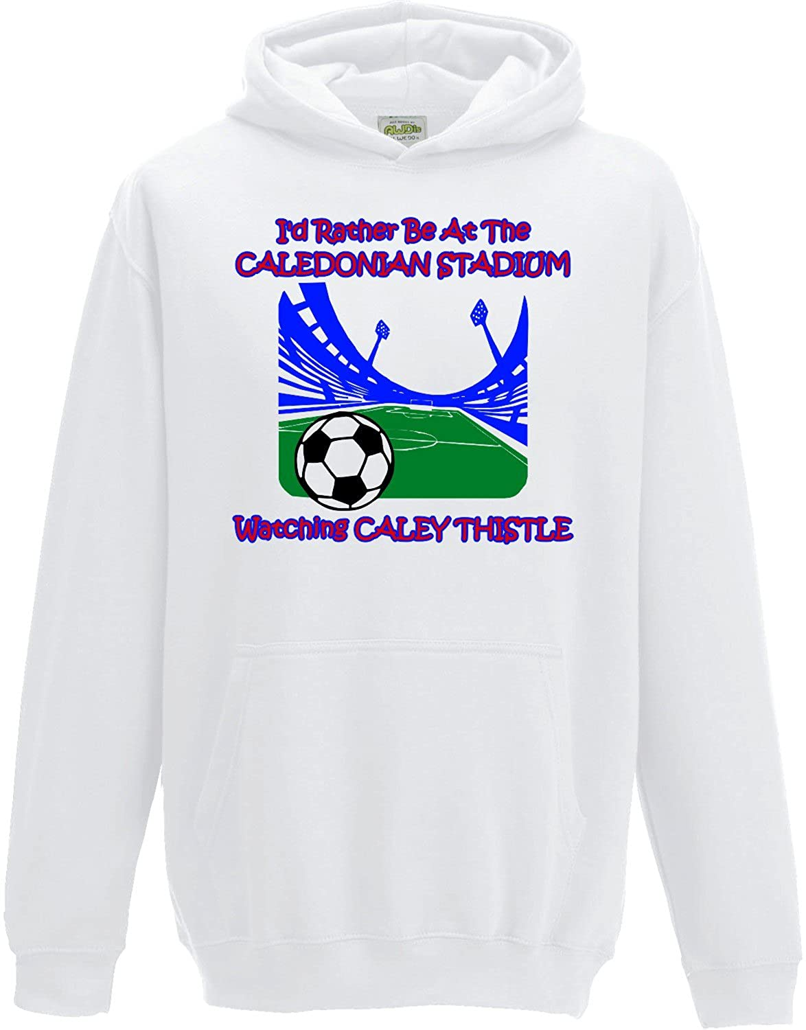 Hat-Trick Designs Inverness Caledonian Thistle Football Baby/Kids/Childrens Hoodie Sweatshirt-White-I'D Rather Be-Unisex Gift