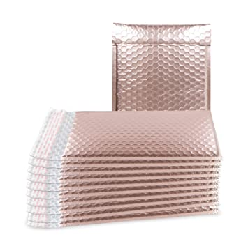 Amazon.com: ABC 25 Pack Rose Gold Bubble mailers 8.5 x 11 ...