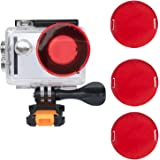VVHOOY Waterproof Case Dive Housing Protective Underwater Dive Case Shell with 3 Pack Red Filter for AKASO EK7000/EKEN H9R/FITFORT/Mospro FT7500/DROGRACE WP350 Action Camera