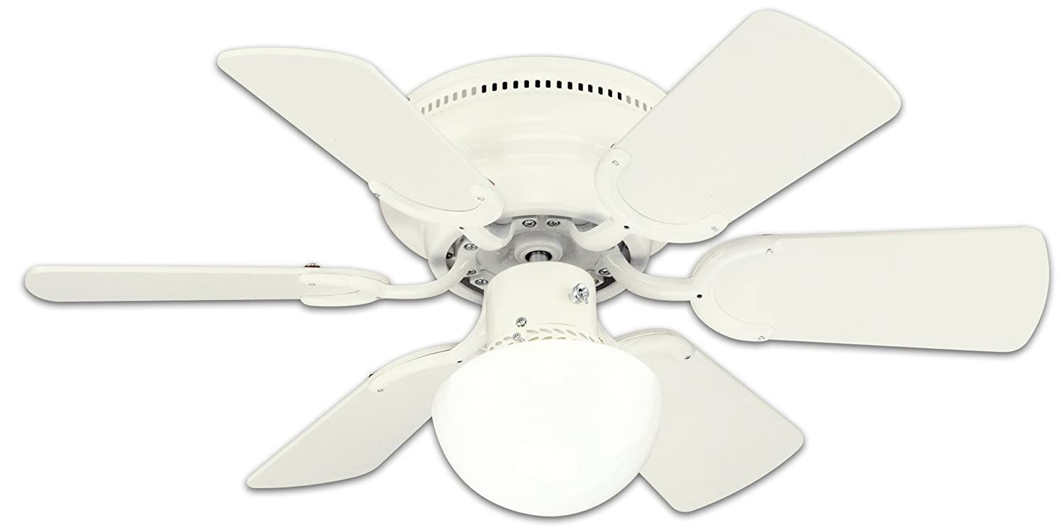 Amazon.com: Westinghouse 78108 Petite Reversible 3 Speed Hugger Six Blade  Indoor Ceiling Fan With Light, 30 Inch, White: Home Improvement