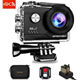 Apexcam 4K 16MP WIFI Action Camera Underwater Waterproof Camera Sports Camera Camcorder Ultra HD 40M 170°Wide-Angle 2.4G Wireless Remote Control 2.0'' LCD Screen 2x1050mAh Rechargeable Batteries and Accessories Kit