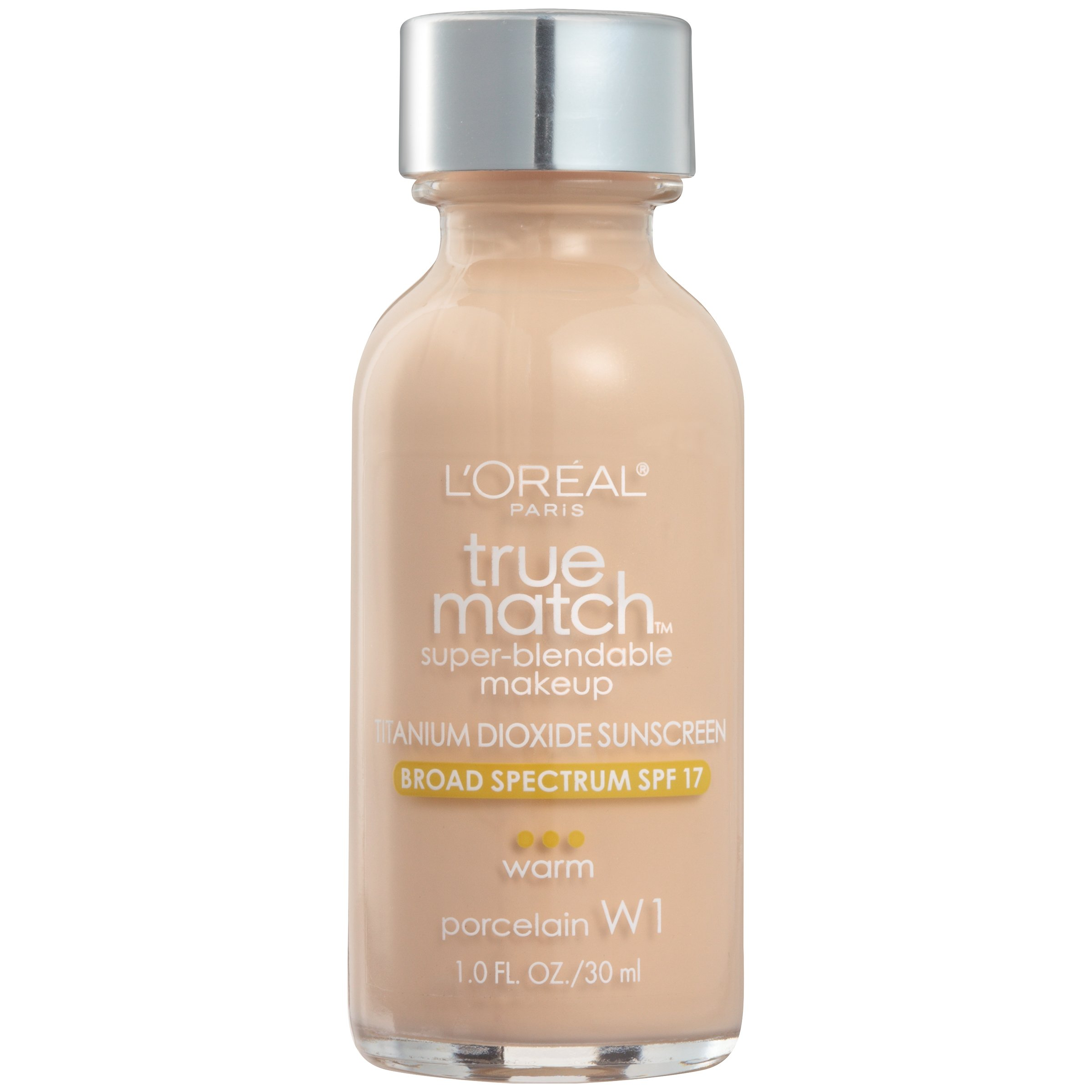 L'Oréal Paris True Match Super-Blendable Foundation Makeup, Porcelain, 1 fl. oz.