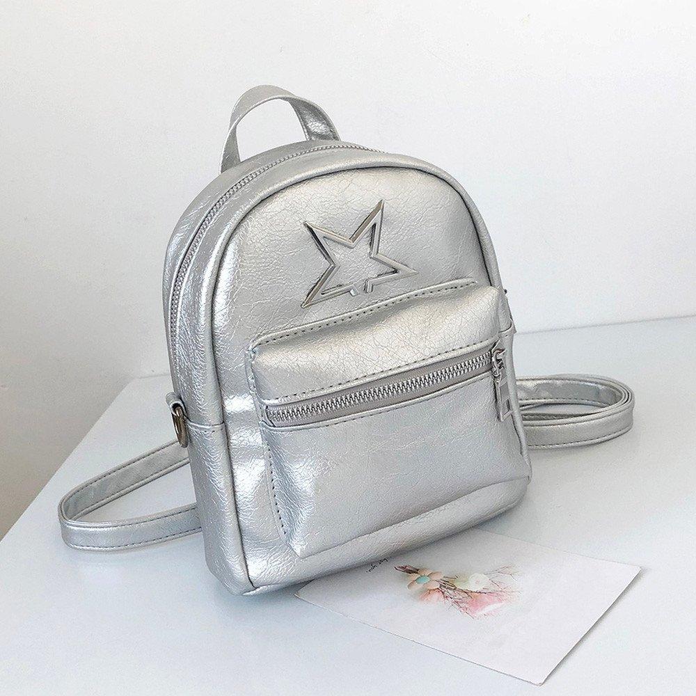 Amazon.com   Siviki Girls Summer Fashion PU Leather Shoulder Bag Student Children School Bag Travel Backpacks (Black)   Kids Backpacks