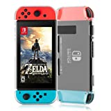 Nintendo Switch Case,Findway Nintendo Switch Premium Crystal Clear Shock Absorption Technology Bumper Soft Protective TPU Cover Case for Nintendo Switch (2017) Release