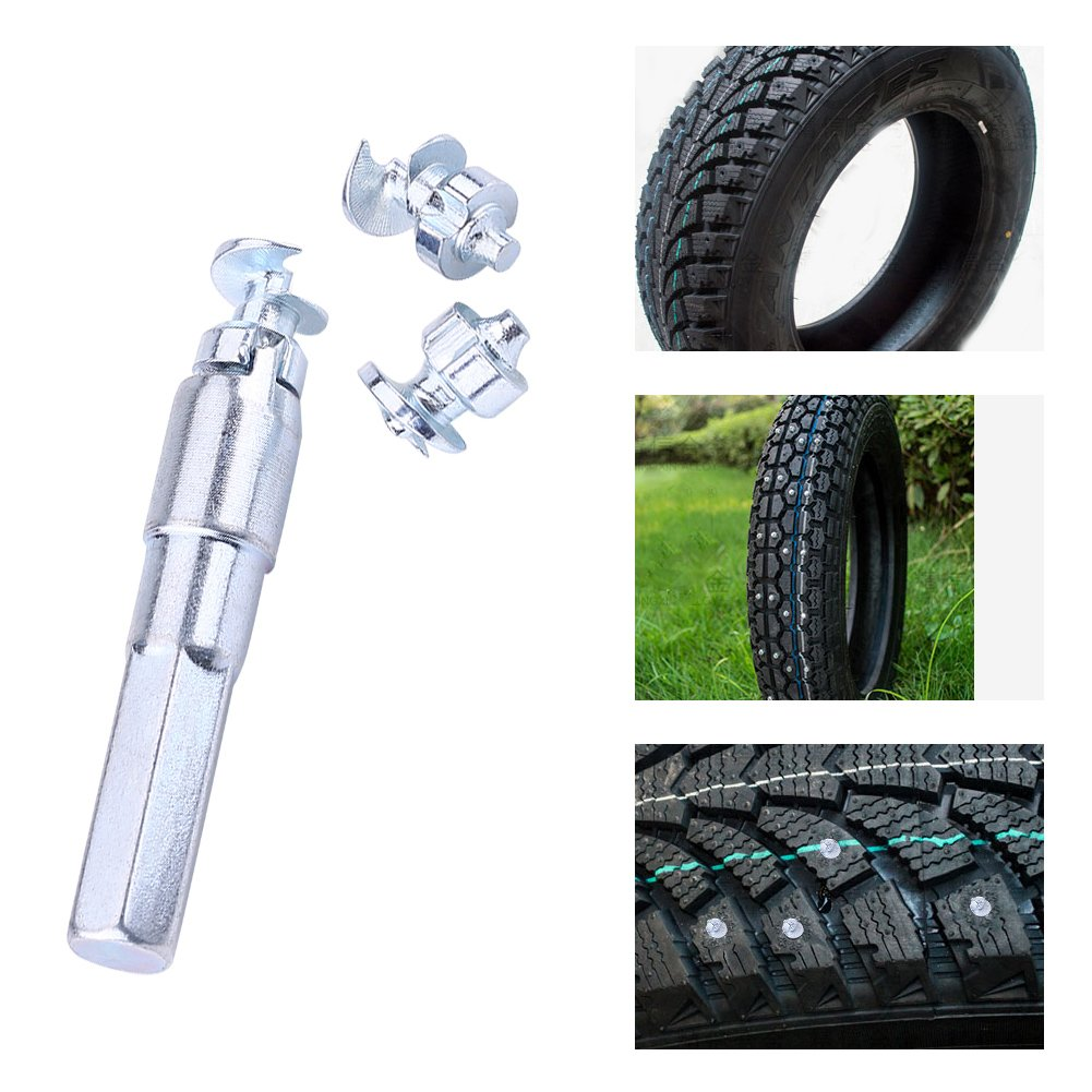 KIMISS 100pcs Wheel Tyre Stud Screws Winter Snow Tire Spikes for Car ATV Motorcycle Bike Shoes by KIMISS
