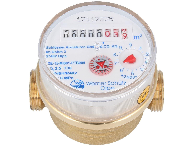 Schütz Compteur d'eau logement einstrahl de Q3–R 40calibré 2023/2022(Eau Froide 80mm x 3/4') ew-haustechnik